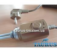 """Золотий електричний нагрівач ТЭН Volux для полотенцесушителей, з ручним регулятором. Польща. 1/2"""" різьблення"""