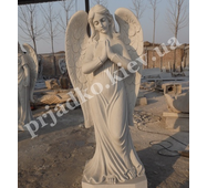 Статуя янгола з білого мармуру