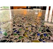 """Наливна підлога """"Декорей"""" зі скляною крихтою"""