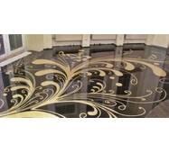 """Наливна підлога """"Декор муар"""" (з малюнком)"""
