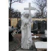 Скульптура Божьей Матери из белого мрамора