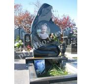 Авторский памятник для девочки из чёрного габбро (на могилу)