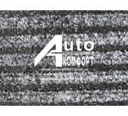 Ковролин автомобильный на резиновой основе (черный с полосами)