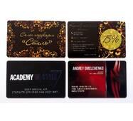 Пластиковые визитные карточки, 100 шт.