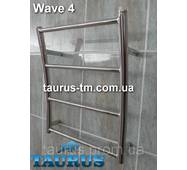 Маленький широкий полотенцесушитель Wave 4/500 мм в форме волны. Водяной, н/ж, 1/2. Украина