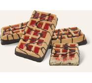 """Вафлі м'які здобні """"Європейські-модерн"""", декоровані кондитерською глазур'ю, з желейною начинкою зі смаком полуниці"""
