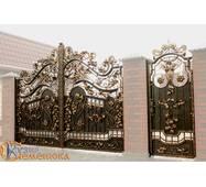 Ворота кованые с калиткой №99