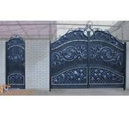Кованые ворота с калиткой №201
