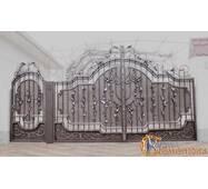 Ворота кованые с калиткой №18