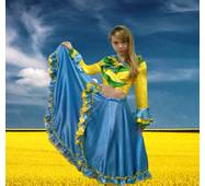 Карнавальний костюм Циганки (голубий)