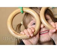 Спорт для детей - кольца гимнастические (gymnastic rings) Лак