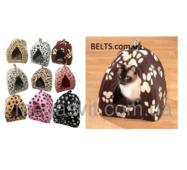 Затишний флисовый будиночок для собак і кішок Pet Hut (для невеликих домашніх тварин пет Хат)