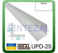 Декоративний пластиковий куточок IDEAL, L - 2,7 м. 25 х 25, Білий