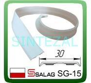 Гнучкий  самоклеющийся куточок SALAG, білий. 15х15 мм.
