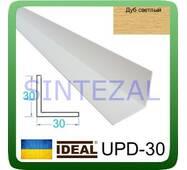 Декоративний пластиковий куточок IDEAL, L - 2,7 м. 40 х 40, Дуб світлий