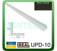 Декоративний пластиковий куточок IDEAL, L - 2,7 м. 10 х 10, Венге чорний