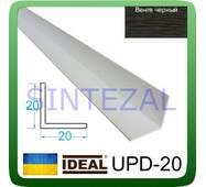 Декоративний пластиковий куточок IDEAL, L - 2,7 м. 20 х 20, Венге чорний