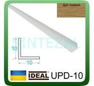 Декоративний пластиковий куточок IDEAL, L - 2,7 м. 10 х 10, Дуб темний