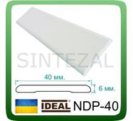 Універсальний дверний наличник IDEAL, L - 2,2 м. Білий, Ширина 40 мм.