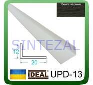 Декоративний пластиковий куточок IDEAL, L - 2,7 м. 12 х 20, Венге чорний