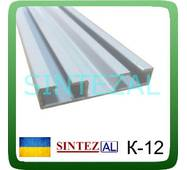 Карниз для штор алюмінієвий К- 12, дворядний, білий....||, -#-||...Алюмінієвий стельовий карниз для штор, дворядний, арт.К- 12<br /> <br /> <br /> <br /> Доступні кольори і покриття :<br /> <br /> <br