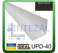 Декоративний пластиковий куточок IDEAL, L - 2,7 м. 40 х 40, Венге чорний