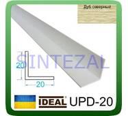 Декоративний пластиковий куточок IDEAL, L - 2,7 м. 20 х 20, Дуб північний