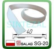 Гнучкий  самоклеющийся куточок SALAG, білий. 20х20 мм.