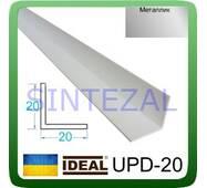 Декоративний пластиковий куточок IDEAL, L - 2,7 м. 20 х 20, Металліки