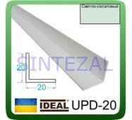 Декоративний пластиковий куточок IDEAL, L - 2,7 м. 20 х 20, Ясно-салатовий
