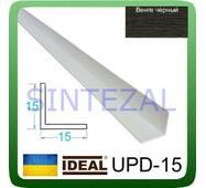 Декоративний пластиковий куточок IDEAL, L - 2,7 м. 15 х 15, Венге чорний