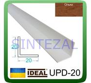 Декоративний пластиковий куточок IDEAL, L - 2,7 м. 20 х 20, Вільха