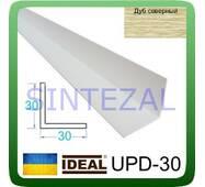 Декоративний пластиковий куточок IDEAL, L - 2,7 м. 30 х 30, Дуб північний