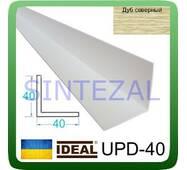 Декоративний пластиковий куточок IDEAL, L - 2,7 м. 40 х 40, Дуб північний