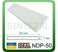 Універсальний дверний наличник IDEAL, L - 2,2 м. Білий, Ширина 50 мм.