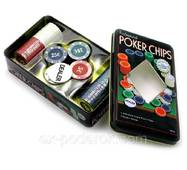 """Наборы для покера """"POKER CHIPS"""" 100 фишек."""