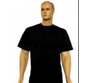 Футболка чорна чоловіча, 100% х/би 46