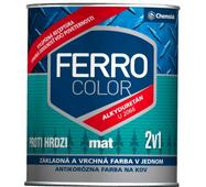 Антикор. краска Chemolak Ferro Color матовая белая 0,75л.