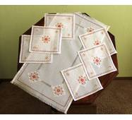 Набор рушник и салфетки вышитые, ручная работа