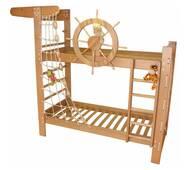 """Деревянная кровать """"Пират"""" ясень"""