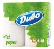 Туалетная бумага серая двухслойная в рулонах с гильзой Обухов Мсг-О-1