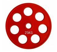 RCP19 - 25 Кольоровий диск олімпійський обгумований 25 кг