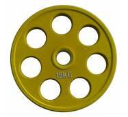 RCP19 - 15 Alex Кольоровий диск олімпійський обгумований, 15 кг