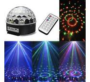 Диско куля LED Ball Light з MP3  пульт флешка