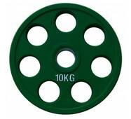 RCP19 - 10 Alex Кольоровий диск олімпійський обгумований, 10кг