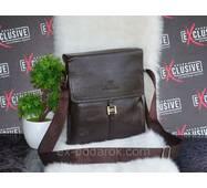 Стильная коричневая мужская сумка.