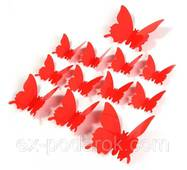 Ексклюзивні метелики для декору червоні.