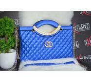 """Синяя сумка """"Шанель""""."""