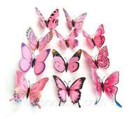 Нежо-рожеві метелики 3d для декорацій.