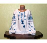 Рубашка-вышиванка ручной работы для девочки 6-7 лет